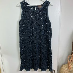 Johnny Was Rocky Embroidered Eyelet Tank Gray